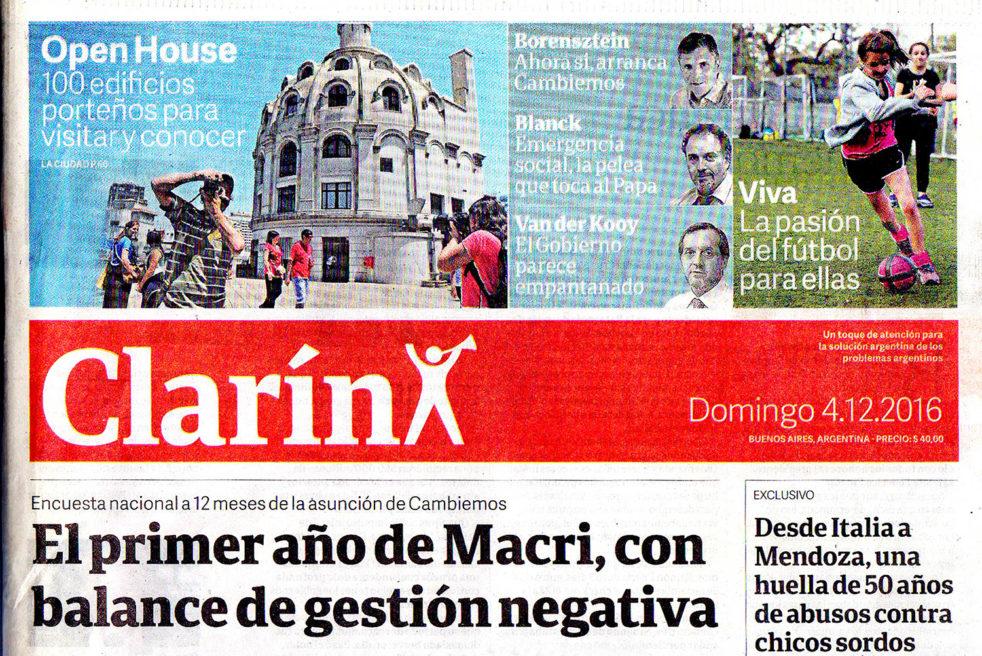 Open House en Diario Clarín